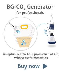 BG-CO2 Generator for professionals: An optimized 24-hour CO2 production