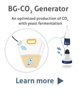 BG-CO2 Generator: An optimized production of CO2 with yeast fermentation