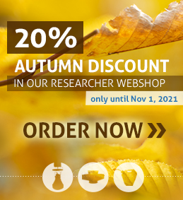 Webshop for Researchers 20% discount Autumn Sale October 2021 Square Image English