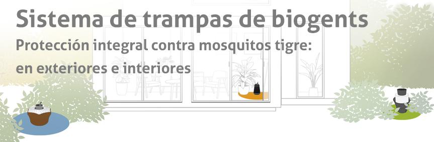 Sistema de las trampas Biogents: Protección integral contra los mosquitos tigre, tanto en el exterior como en el interior.