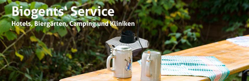 Biogents Service: Beispiel Biergärten