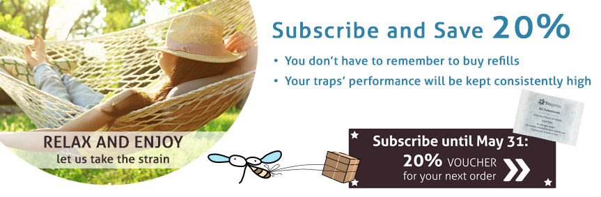 Subscribe for refills: SAVE 20%! Only until May 31: get a 20% voucher for your next order on top