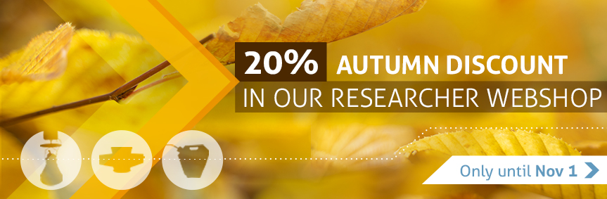 Webshop for Researchers 20% discount Autumn Sale October 2021 slide show English