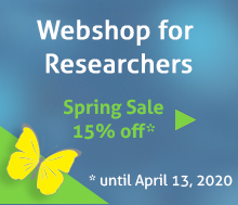 Webshop for researchers: Spring sale!